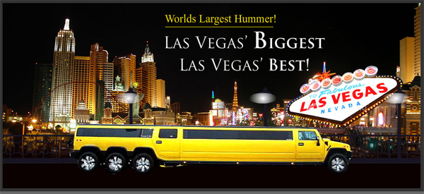HUMMER LIMO IN LAS VEGAS - WORLDS BIGGEST